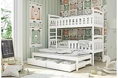 Burr Våningssäng 80x180 med Förvaring Vänster
