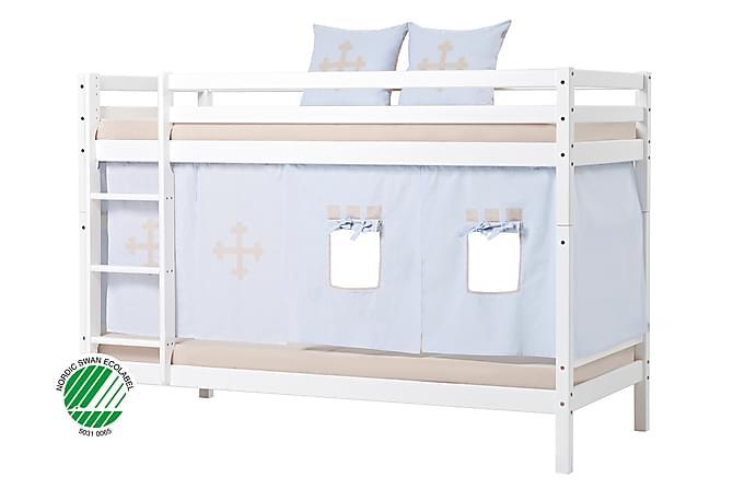 Hoppekids Madicken Våningssäng 90x200 Draperi Riddare - Vit - Möbler - Sängar - Våningssängar