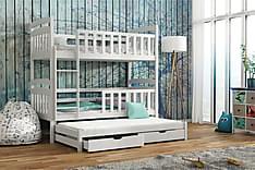 Turid Våningssäng 90x200 med Extrasäng och Förvaring