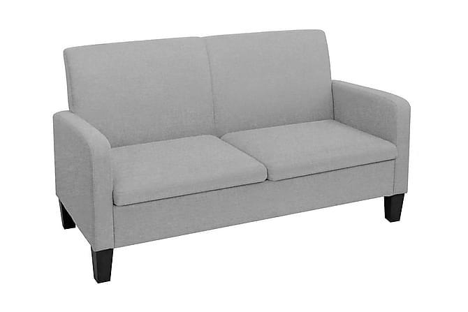 2-sitssoffa 135x65x76 cm ljusgrå - Ljusgrå - Möbler - Soffor - 2-4-sits-soffor