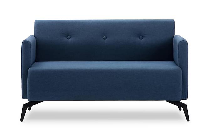 2-sitssoffa med tygklädsel 115x60x67 cm blå - Blå - Möbler - Soffor - 2-4-sits-soffor