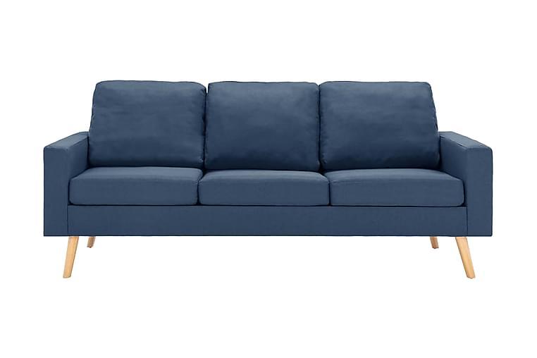 3-sitssoffa blå tyg - Blå - Möbler - Soffor - 2-4-sits soffor