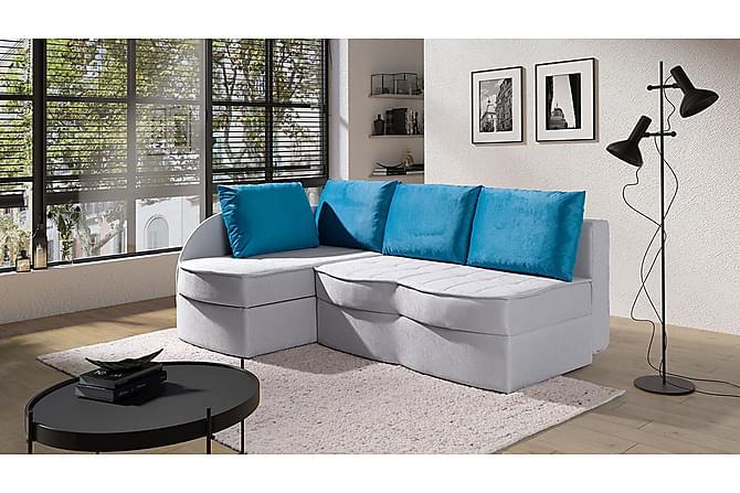Pokusa Hörnsoffa Vänster - Blå - Möbler - Soffor - Hörnsoffor