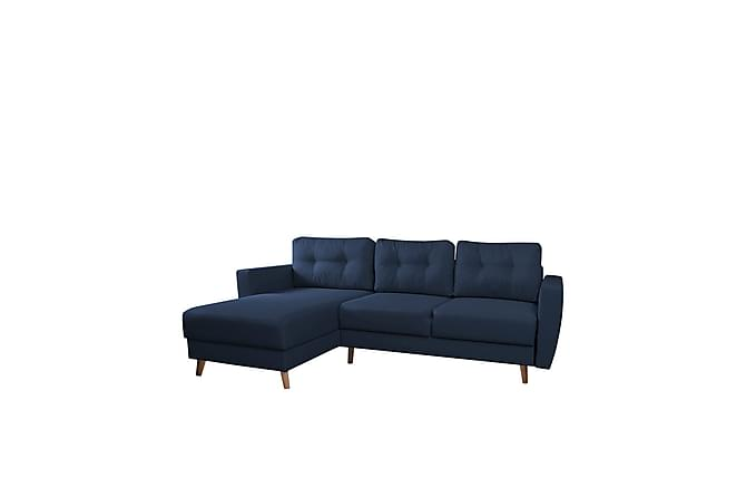 Retro Divanbäddsoffa 235x155x85 cm - Blå - Möbler - Soffor - Bäddsoffor
