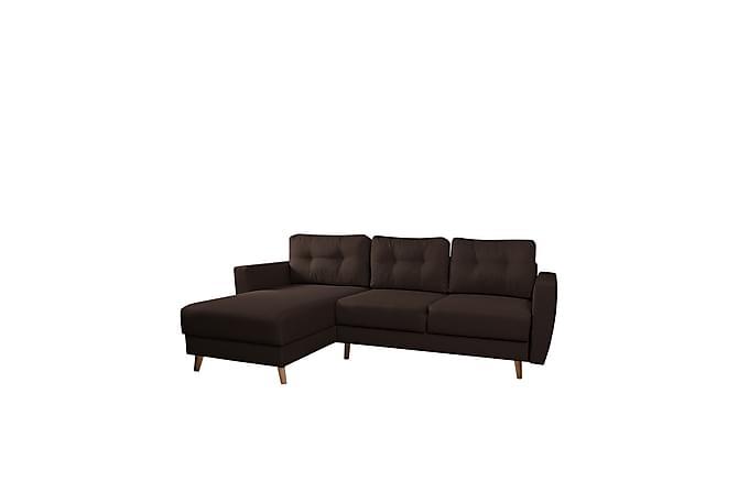Retro Divanbäddsoffa 235x155x85 cm - Brun - Möbler - Soffor - Bäddsoffor