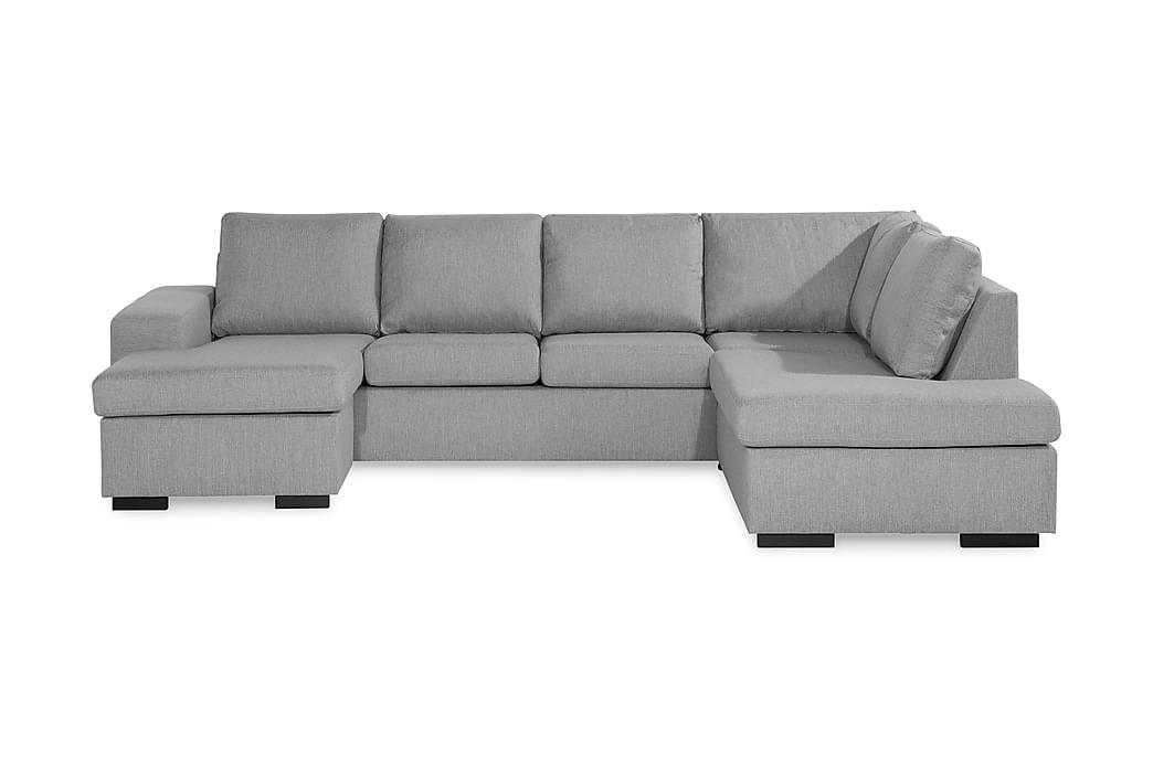 Boss U-soffa med Divan Vänster - Grå - Möbler - Soffor - Divansoffor & U-soffor