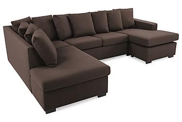 Crazy U-soffa Large Divan Höger Kuvertkuddar