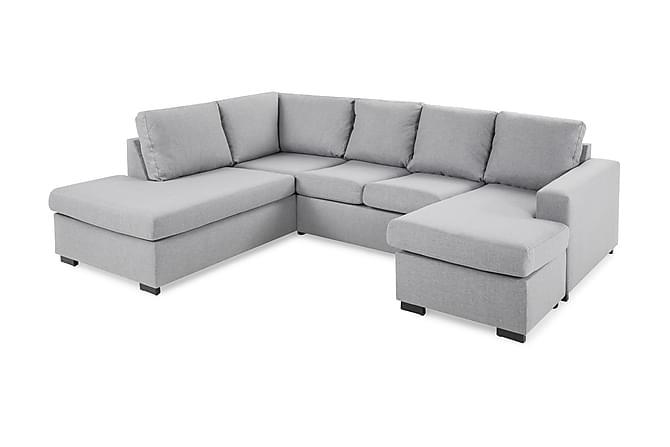 Crazy U-soffa Large Divan Höger - Ljusgrå - Möbler - Soffor - Divansoffor & U-soffor