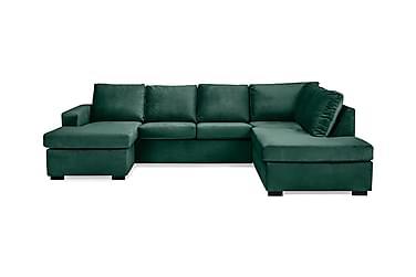 Crazy U-soffa Large Höger Sammet