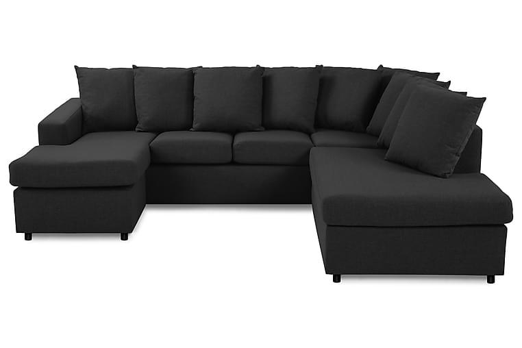 Crazy U-soffa Small Divan Vänster inkl Kuvertkuddar - Antracit - Möbler - Soffor - Divansoffor & U-soffor