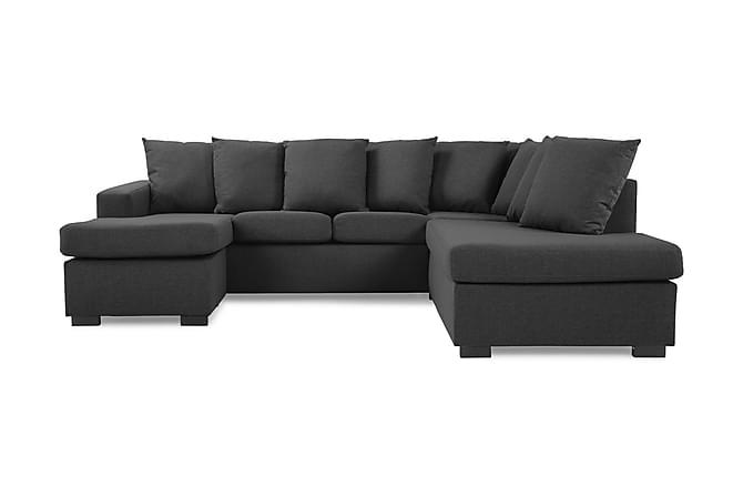 Crazy U-soffa Small Divan Vänster inkl Kuvertkuddar - Mörkgrå - Möbler - Soffor - Divansoffor & U-soffor