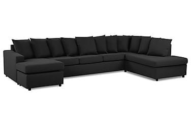 Crazy U-soffa XL Divan Vänster inkl Kuvertkuddar