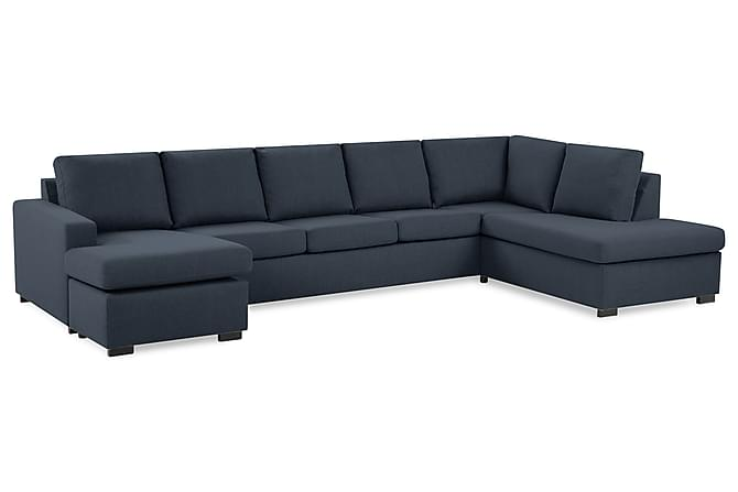 Crazy U-soffa XL Divan Vänster - Mörkblå - Möbler - Soffor - Divansoffor & U-soffor