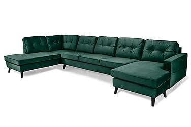 Monroe U-soffa Large med Divan Höger Sammet