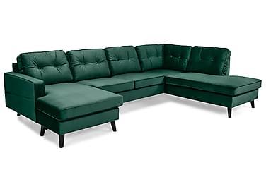Monroe U-soffa med Divan Vänster Sammet