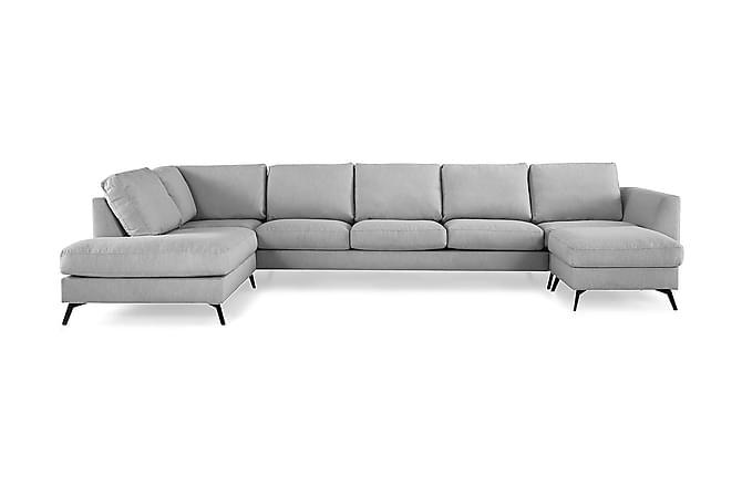 Ocean Lyx U-soffa med Schäslong Vänster - Linnegrå - Möbler - Soffor - Divansoffor & U-soffor