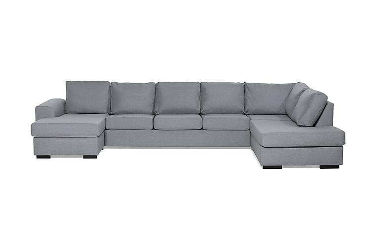 Ocean U-soffa Large med Divan Vänster - Ljusgrå - Möbler - Soffor - Divansoffor & U-soffor