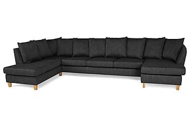 Wave U-soffa Large med Divan Höger Kuvertkuddar Tvättb Tyg