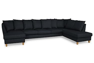 Wave U-soffa Large med Divan Vänster inkl Kuvertkuddar