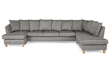 Wave U-soffa Large med Divan Vänster Kuvertkuddar Tvättb Tyg