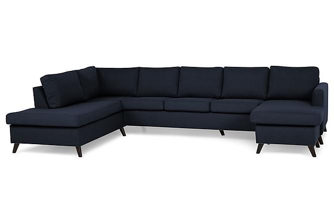 Zero U-soffa Large med Divan Höger - Blå - Möbler - Soffor - Divansoffor & U-soffor