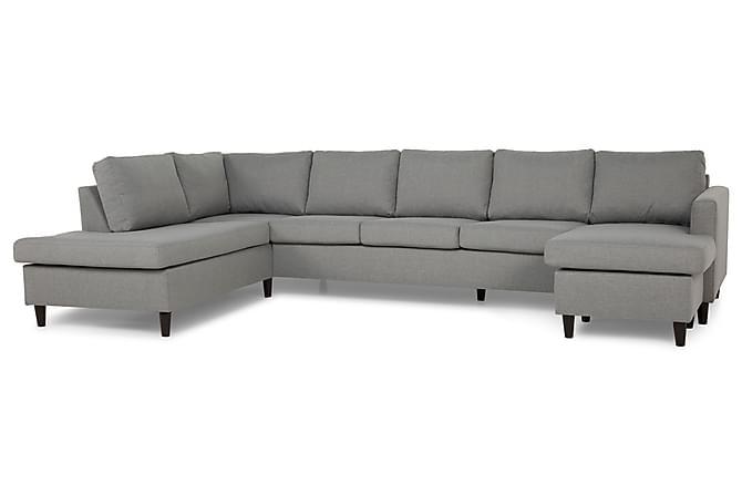 Zero U-soffa Large med Divan Höger - Ljusgrå - Möbler - Soffor - Divansoffor & U-soffor