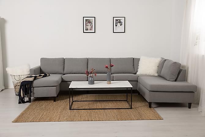 Zero U-soffa Large med Divan Vänster - Ljusgrå - Möbler - Soffor - Divansoffor & U-soffor