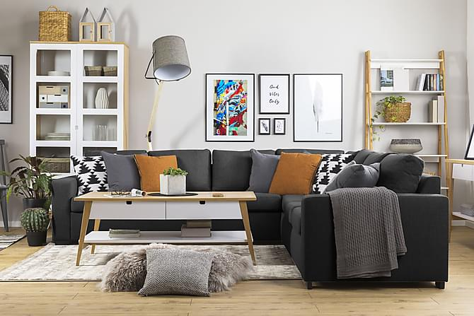 Crazy Hörnsoffa XL Vändbar - Antracit - Möbler - Soffor - Hörnsoffor