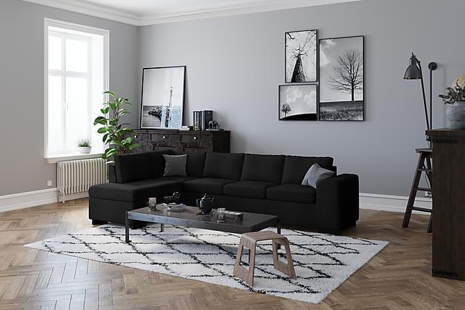 Link Hörnsoffa Vändbar - Svart - Möbler - Soffor - Hörnsoffor