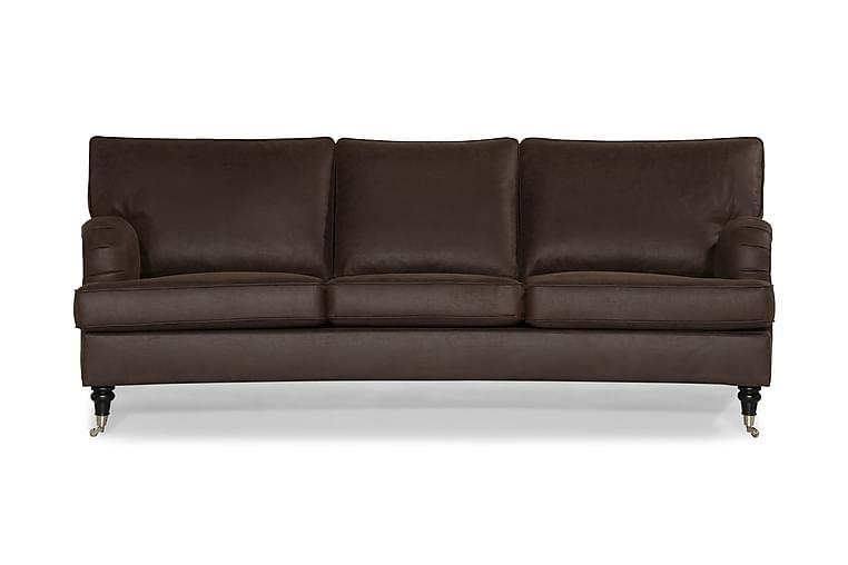 Howard Classic 3-sits Soffa Konstläder Svängd - Brun - Möbler - Soffor - Howardsoffor