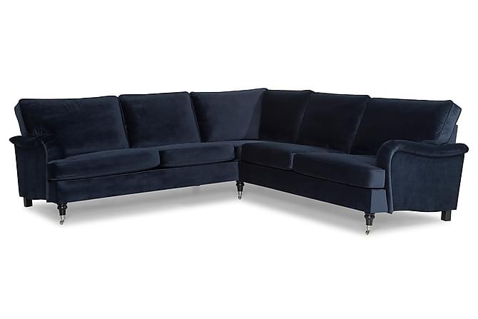 Howard Classic Hörnsoffa Sammet - Midnattsblå - Möbler - Soffor - Howardsoffor