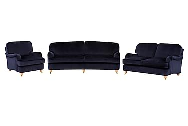 Howard Deluxe Soffgrupp 3-sits+2-sits+Fåtölj Sammet