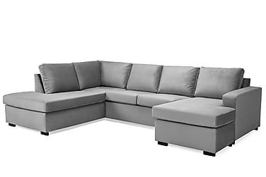 Crazy U-soffa Large Divan Höger Sammet