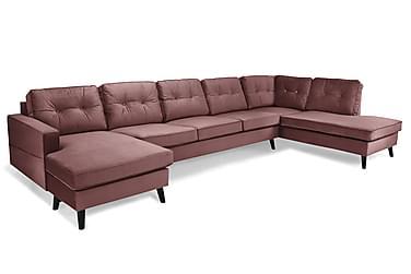 Monroe U-soffa Large med Divan Vänster Sammet