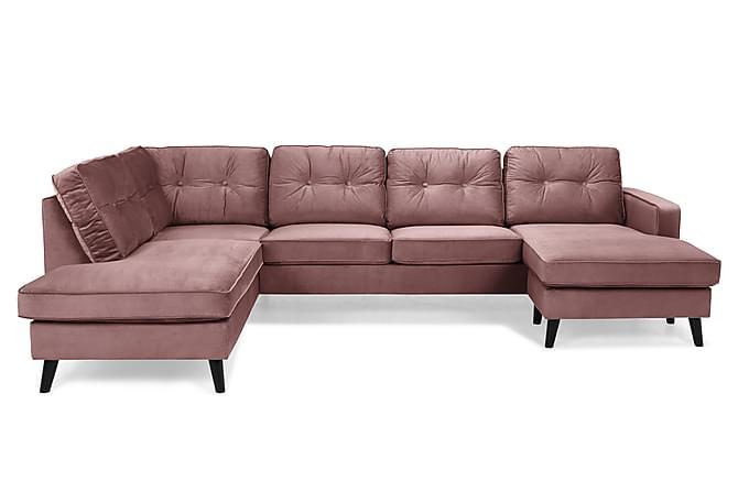 Splitter nya Monroe U-soffa med Divan Höger Sammet - Rosa | Trademax.se QN-87