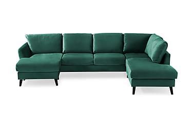 Trend U-soffa med Divan Vänster Sammet