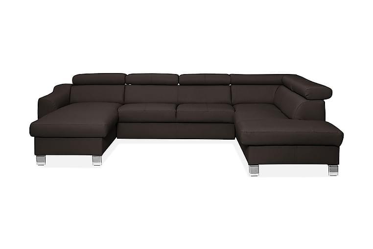 ASPEN U-soffa - Brun - Möbler - Soffor - Skinnsoffor