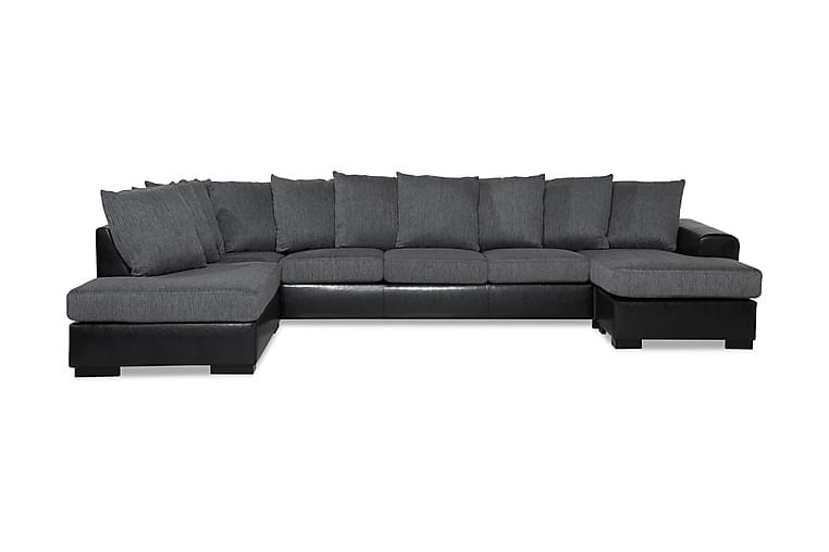 Ocean U-soffa Large med Divan Höger Konstläder - Grå - Möbler - Soffor - Skinnsoffor