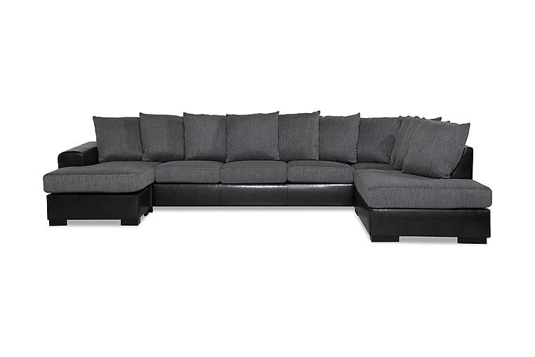 Ocean U-soffa Large med Divan Vänster Konstläder - Grå - Möbler - Soffor - Skinnsoffor