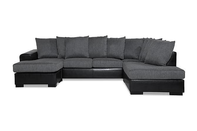 Ocean U-soffa med Divan Vänster - Svart/Grå - Möbler - Soffor - Divansoffor & U-soffor