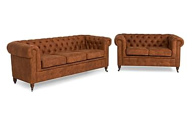 Chesterfield Deluxe Soffgrupp 3-sits+2-sits