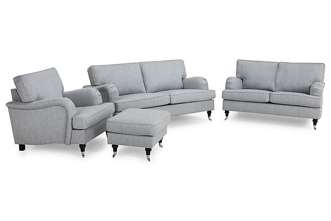 Splitter nya Howard Classic Soffgrupp 3-sits+2-sits+Fåtölj+Fotpall - Grå CQ-94