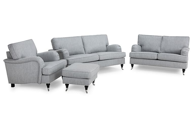 Howard Classic Soffgrupp 3-sits+2-sits+Fåtölj+Fotpall