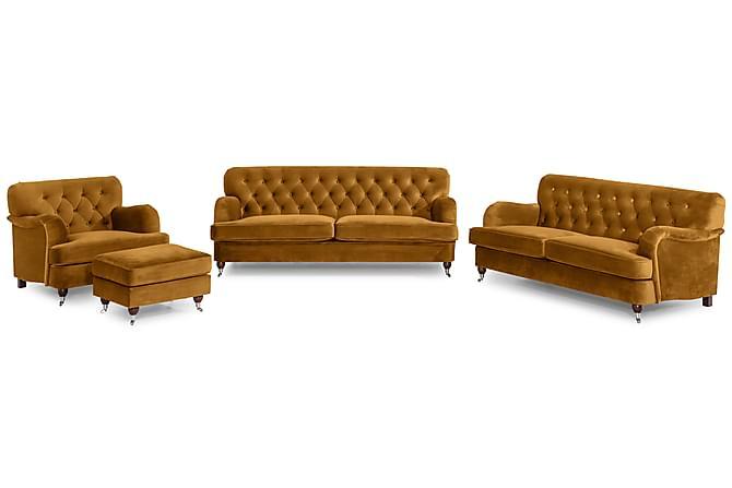 Howard Riviera Soffgrupp 2-sits+3-sits+Fåtölj+Fotpall - Amber - Möbler - Soffor - Soffgrupp