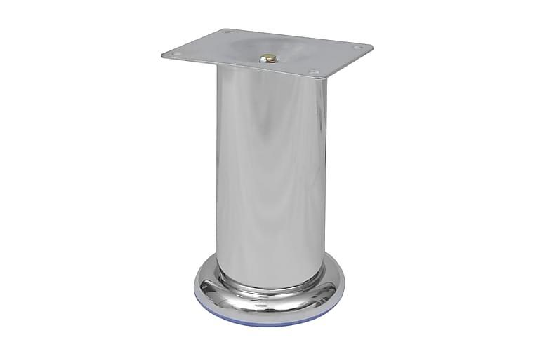 Soffben 8 st rund krom 120 mm - Silver - Möbler - Soffor - Sofftillbehör