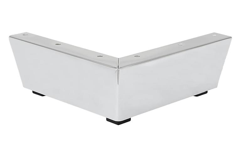 Soffben Modell F 6,6 cm 4-Pack - Krom - Möbler - Soffor - Sofftillbehör