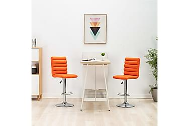 Barstolar 2 st orange konstläder