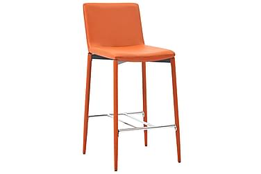 Barstolar 4 st orange konstläder