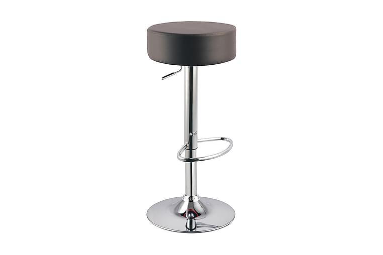 Niharra Barstol 2-pack - Konstläder/Svart/Silver - Möbler - Stolar - Barstol