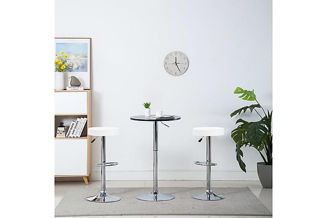 Snurrbara barstolar 2 st vit konstläder - Vit|Krom - Möbler - Stolar - Barstolar